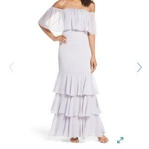 WAYF Penelope Off the Shoulder Popover Gown